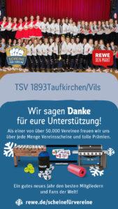"""REWE Scheine für Vereine """"Danke"""" an die REWE Group"""